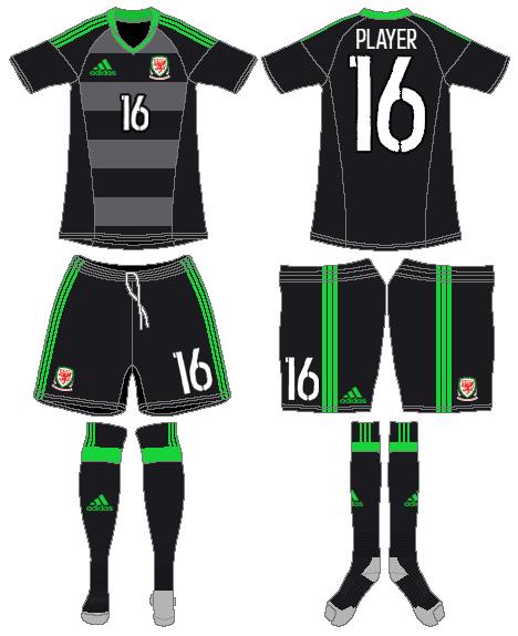 Wales  Uniform Road Uniform (2016-2018) -  SportsLogos.Net
