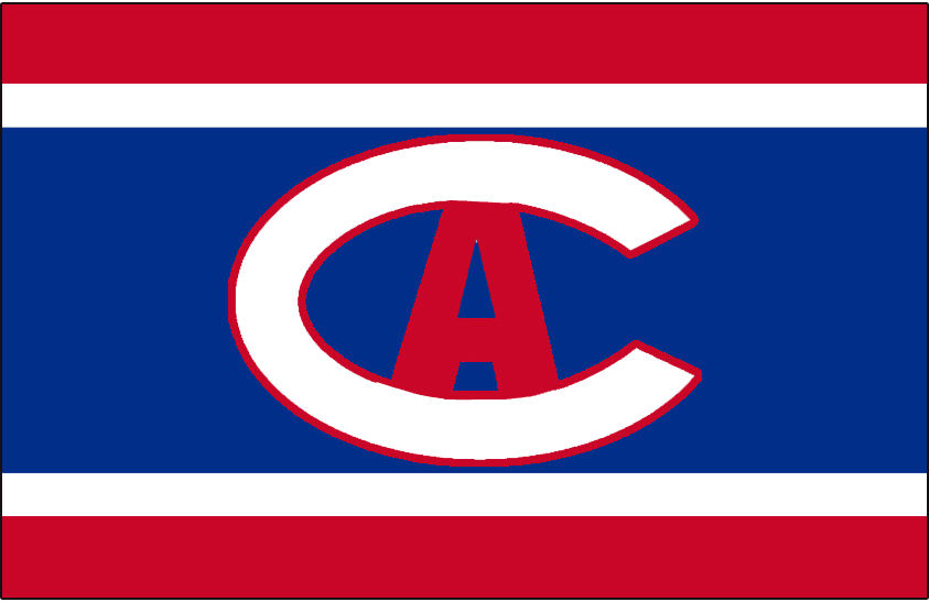 Montreal Canadiens Logo Jersey Logo (1913/14-1914/15) - Worn on front of Montreal Canadiens red, white, and blue jersey in 1913-14 and 1914-15 SportsLogos.Net
