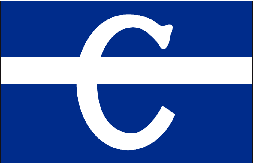 Montreal Canadiens Logo Jersey Logo (1909/10) - White C on blue jersey with a white horizontal stripe running through it, worn on Montreal Canadiens jersey during their inaugural season of 1909-1910 SportsLogos.Net