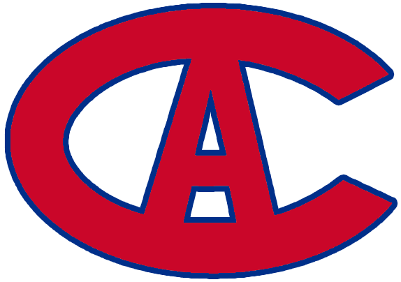 Montreal Canadiens Logo Primary Logo (1913/14-1916/17) - Red C and A with a white and blue outline SportsLogos.Net