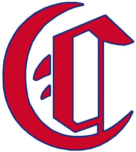 Montreal Canadiens Logo Primary Logo (1911/12) - A red calligraphic style C with a blue trim SportsLogos.Net