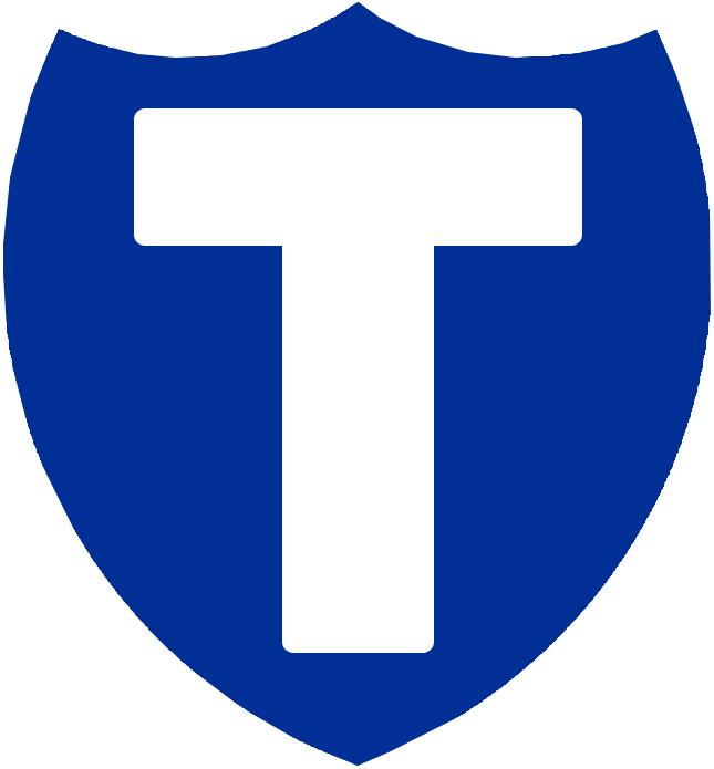 Toronto Blueshirts Logo Primary Logo (1912/13-1916/17) - A white T on a blue shield, seen on Blueshirts trainer and coaches jackets SportsLogos.Net