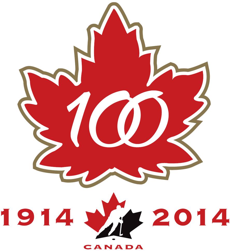 Canada National Hockey Team Logo Anniversary Logo (2015) -  SportsLogos.Net