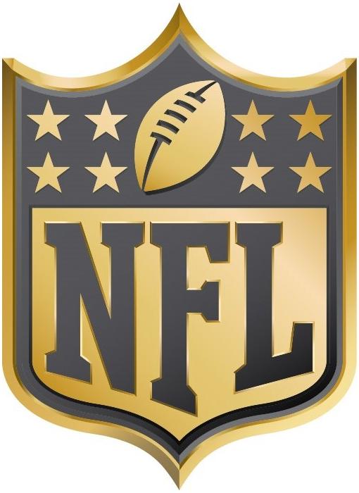 National Football League Logo Anniversary Logo (2015) - NFL Shield logo in gold - in commemoration of Super Bowl 50 SportsLogos.Net