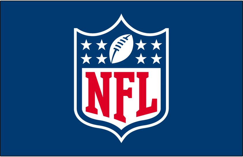 National Football League Logo Primary Dark Logo (2008-Pres) - NFL Primary Shield logo on blue SportsLogos.Net