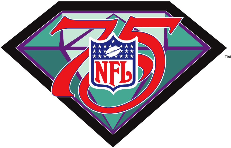 National Football League Logo Anniversary Logo (1994) - 75th Anniversary of the NFL SportsLogos.Net