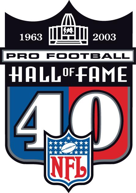 National Football League Logo Anniversary Logo (2003) - Pro Football Hall of Fame 40th Anniversary logo SportsLogos.Net