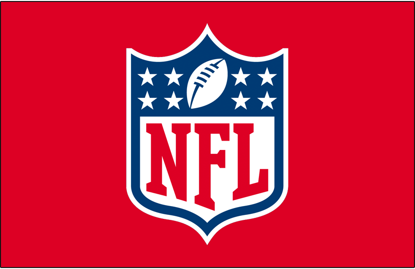 National Football League Logo Primary Dark Logo (2008-Pres) - NFL Primary Shield logo on red SportsLogos.Net