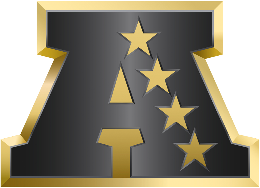 American Football Conference Logo Anniversary Logo (2015) - AFC logo in gold - in commemoration of Super Bowl 50 SportsLogos.Net
