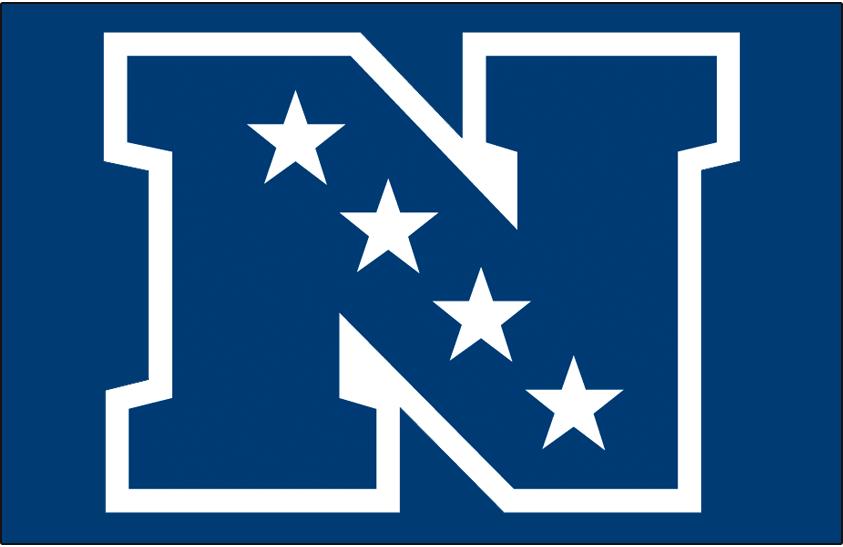National Football Conference Logo Primary Dark Logo (2010-Pres) - Primary NFC logo on blue SportsLogos.Net