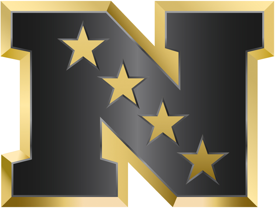 National Football Conference Logo Anniversary Logo (2015) - NFC logo in gold - in commemoration of Super Bowl 50 SportsLogos.Net