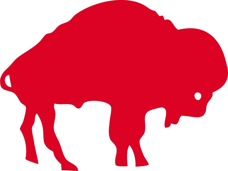 Buffalo Bills Logo Primary Logo (1970-1973) - A red buffalo facing the left SportsLogos.Net