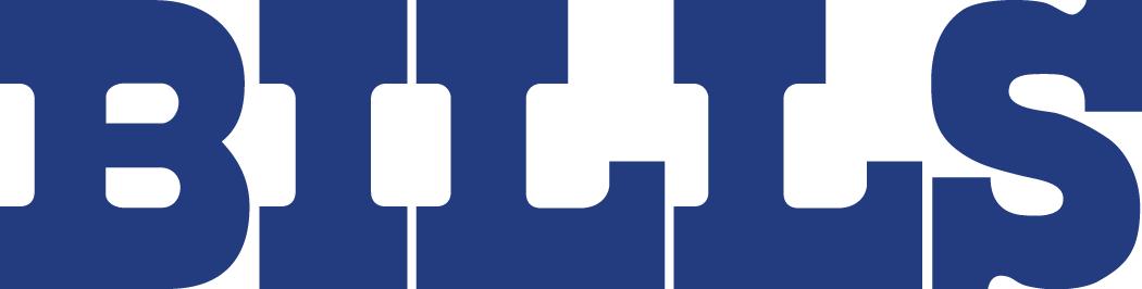 Buffalo Bills Logo Wordmark Logo (1974-2010) - Bills in bold blue serif SportsLogos.Net