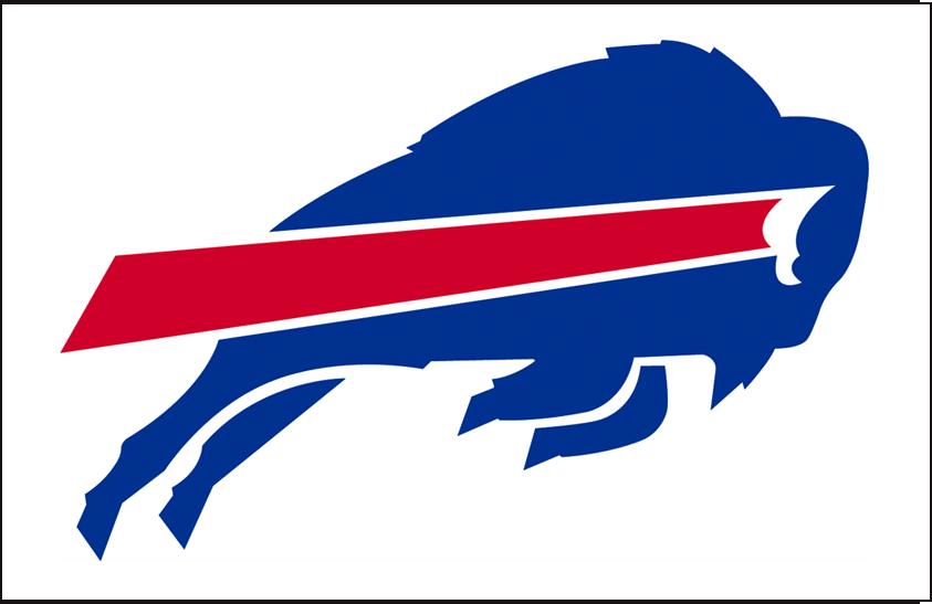 Buffalo Bills Logo Helmet Logo (1974-1983) - Bills primary logo in on white, worn as their helmet logo from 1974 to 1983 and again starting in 2011 SportsLogos.Net