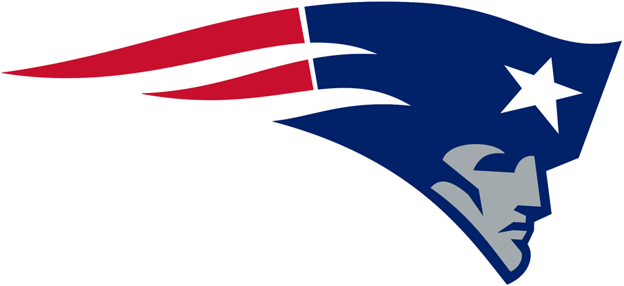 New England Patriots Logo Primary Logo (1993-1999) - Silver patriot with blue hat, white star and red stripes SportsLogos.Net
