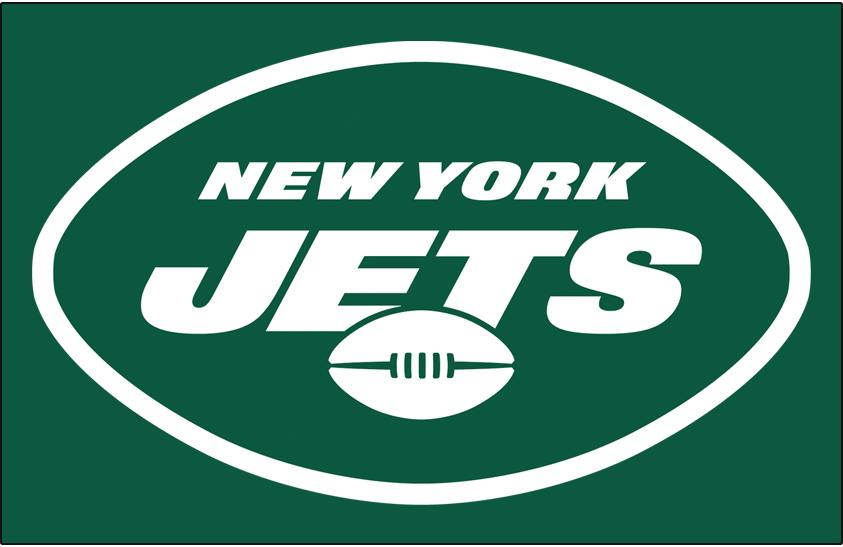 New York Jets Logo Primary Dark Logo (2019-Pres) - New York Jets primary logo on green SportsLogos.Net