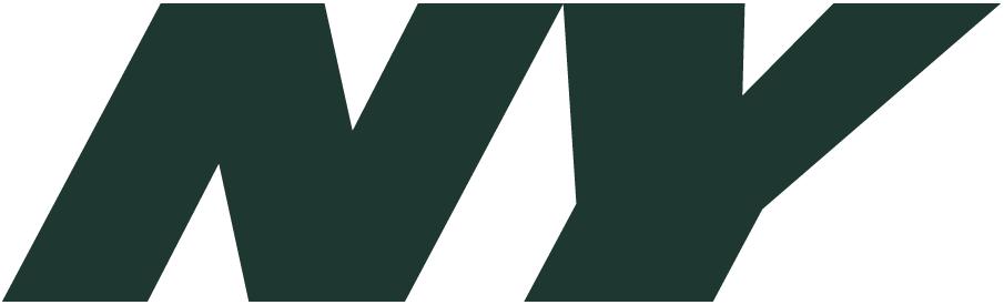 New York Jets Logo Alternate Logo (2011-2018) - Italicized green NY SportsLogos.Net