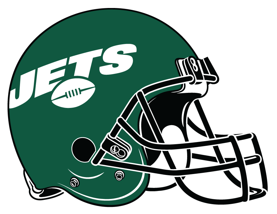 New York Jets Helmet Helmet (2019-Pres) - Green shell with black facemask, New York Jets logo in white on the site SportsLogos.Net