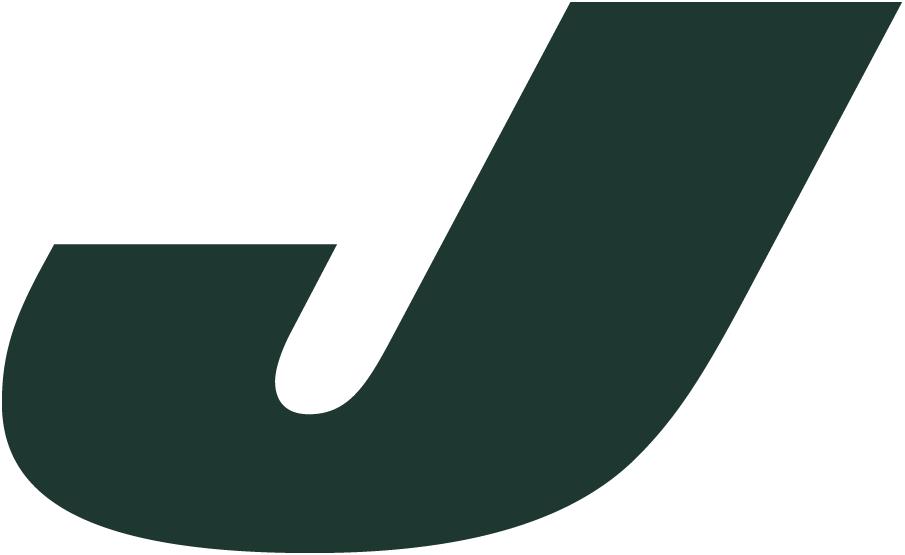 New York Jets Logo Alternate Logo (2011-2018) - Italicized green J SportsLogos.Net