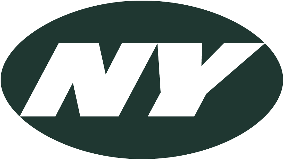 New York Jets Logo Alternate Logo (2002-2018) - Italicized NY in white inside dark green oval SportsLogos.Net