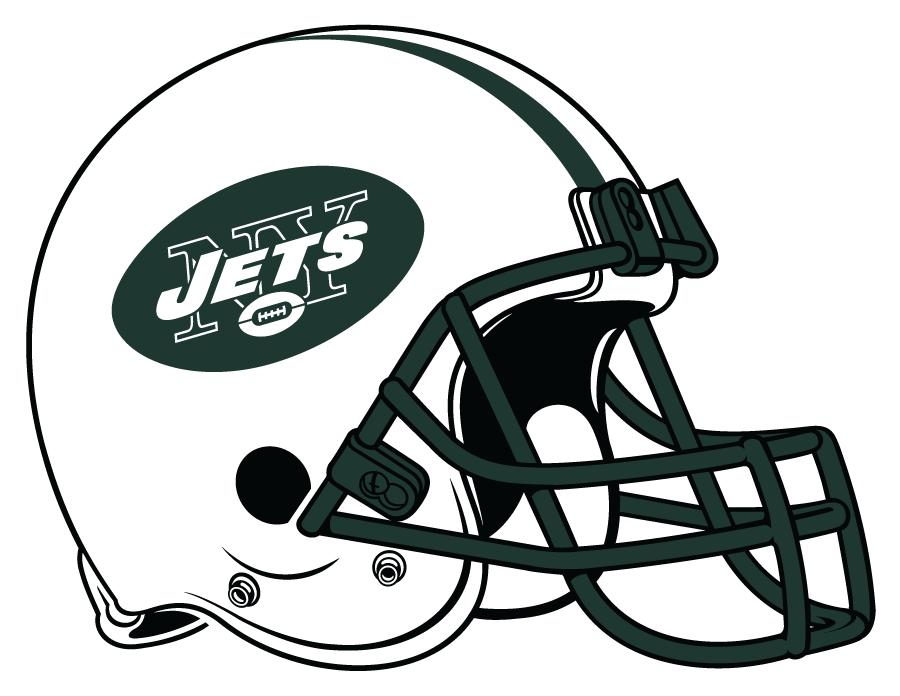 New York Jets Helmet Helmet (1998-2018) - White helmet, dark green