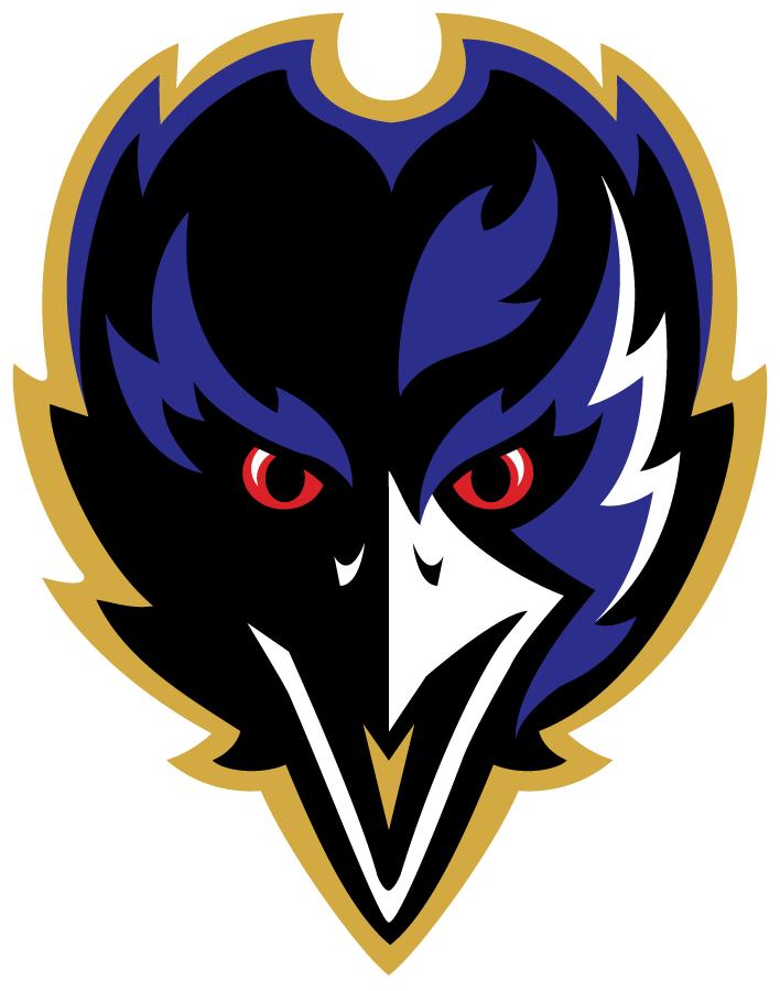Baltimore Ravens Logo Alternate Logo (1999-Pres) - A black and purple raven head SportsLogos.Net