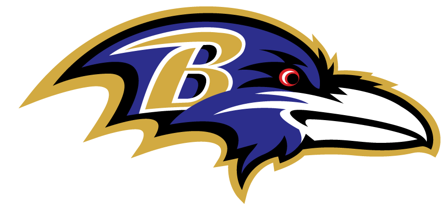 Baltimore Ravens Logo Primary Logo (1999-Pres) - Black and purple raven head with a gold