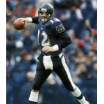 Baltimore Ravens (1996) Vinny Testeverde wearing the Baltimore Ravens home uniform during the 1996 season