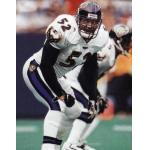 Baltimore Ravens (1998) Ray Lewis wearing the Baltimore Ravens road uniform in 1998