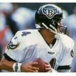 Baltimore Ravens (1998) Jim Harbaugh wearing the Baltimore Ravens road uniform in 1998