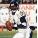 Baltimore Ravens (2003) Anthony Wright wearing the Baltimore Ravens road uniform in 2003