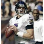 Baltimore Ravens (2007) Kyle Boller wearing the Baltimore Ravens road uniform in 2007