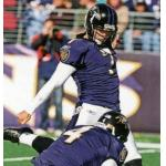 Baltimore Ravens (2010) Billy Cundiff wearing the Baltimore Ravens home uniform in 2010