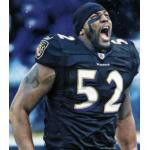 Baltimore Ravens (2010) Ray Lewis wearing the Baltimore Ravens black alternate uniform in 2010