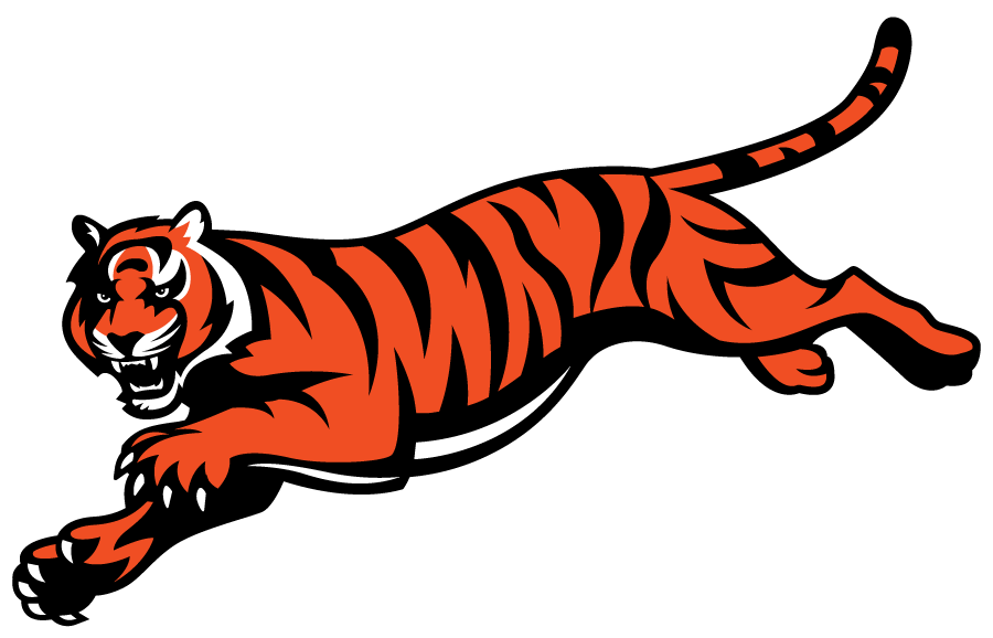 Cincinnati Bengals Logo Alternate Logo (1997-2020) - Bengal tiger leaping SportsLogos.Net