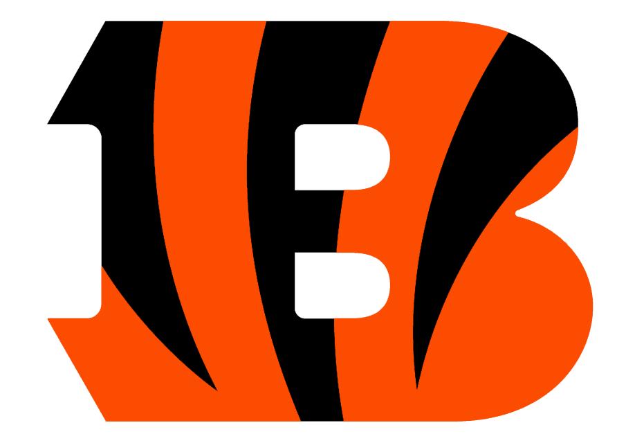 Cincinnati Bengals Logo Primary Logo (2004-2020) - An orange B with black tiger stripes on it SportsLogos.Net