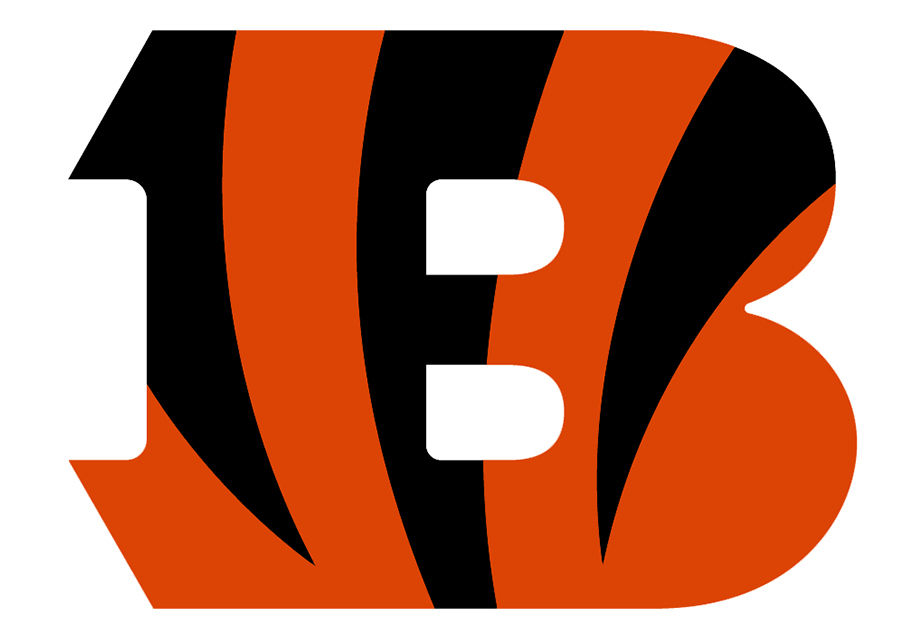 Cincinnati Bengals Logo Primary Logo (2021-Pres) - The Cincinnati Bengals primary logo consists of a large letter B in orange with three black tiger stripes incorporated into the design making its way down from the top of the letter. Originally introduced in 2004, the Bengals darkened the shade of orange used in their logos (to match the orange they'd already been using on their on-field jerseys since 2012) when they re-designed their uniforms in 2021. SportsLogos.Net