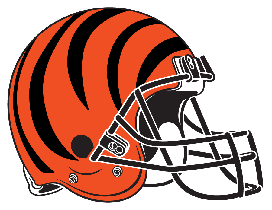 Cincinnati Bengals Helmet Helmet (1981-Pres) - Orange helmet, black tiger stripes with black facemask SportsLogos.Net