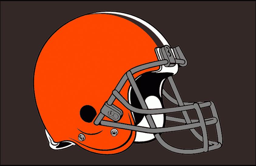 Cleveland Browns Logo Primary Dark Logo (2006-2014) - Cleveland Browns primary logo on brown SportsLogos.Net