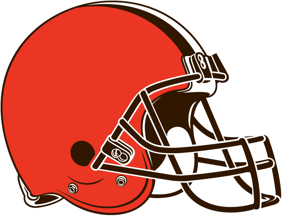 Cleveland Browns Logo Primary Logo (2015-Pres) - Orange helmet with brown facemask and brown/white/brown stripe SportsLogos.Net