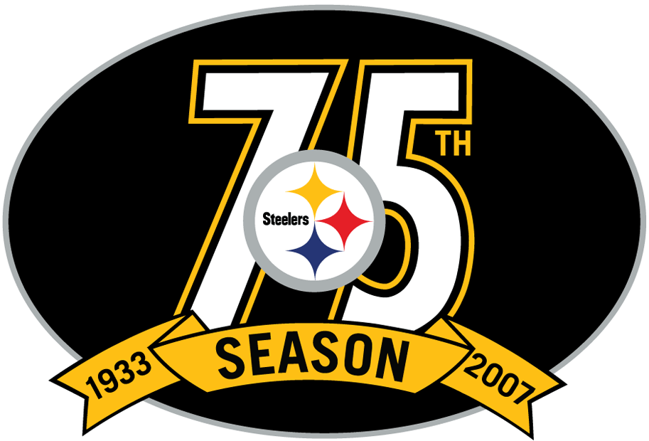 Pittsburgh Steelers Anniversary Logo National Football League Nfl