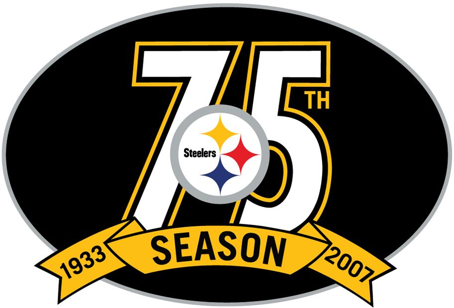 Pittsburgh Steelers Anniversary Logo National Football League Nfl
