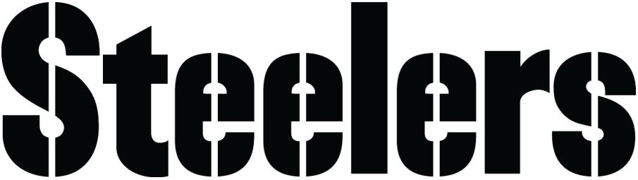 Pittsburgh Steelers Logo Wordmark Logo (1968-Pres) - Steelers stencil in black SportsLogos.Net