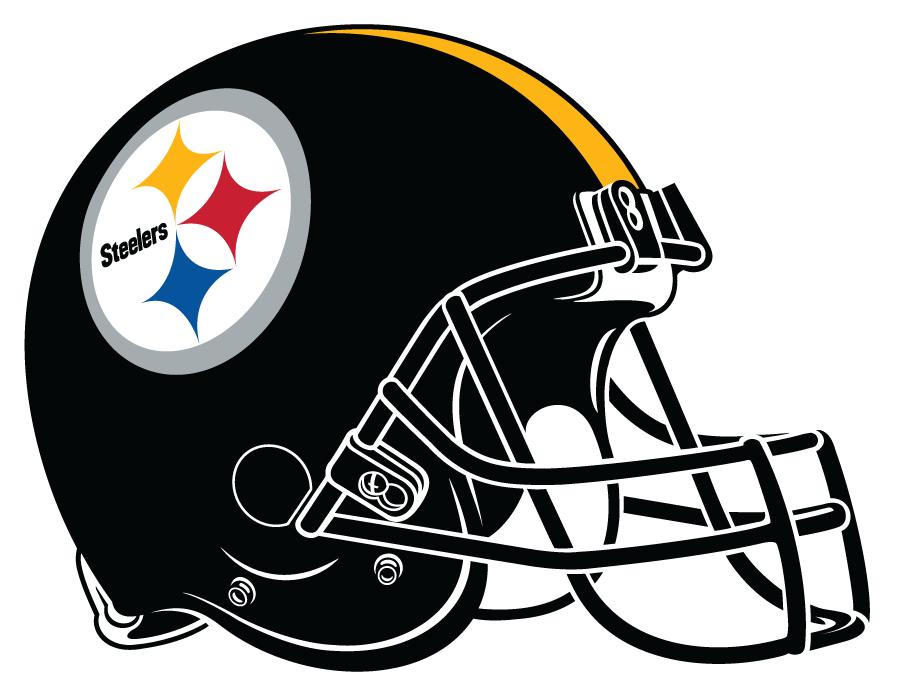 Pittsburgh Steelers Helmet Helmet (1977-Pres) - Black helmet, yellow stripe, Steelers logo with black facemask SportsLogos.Net