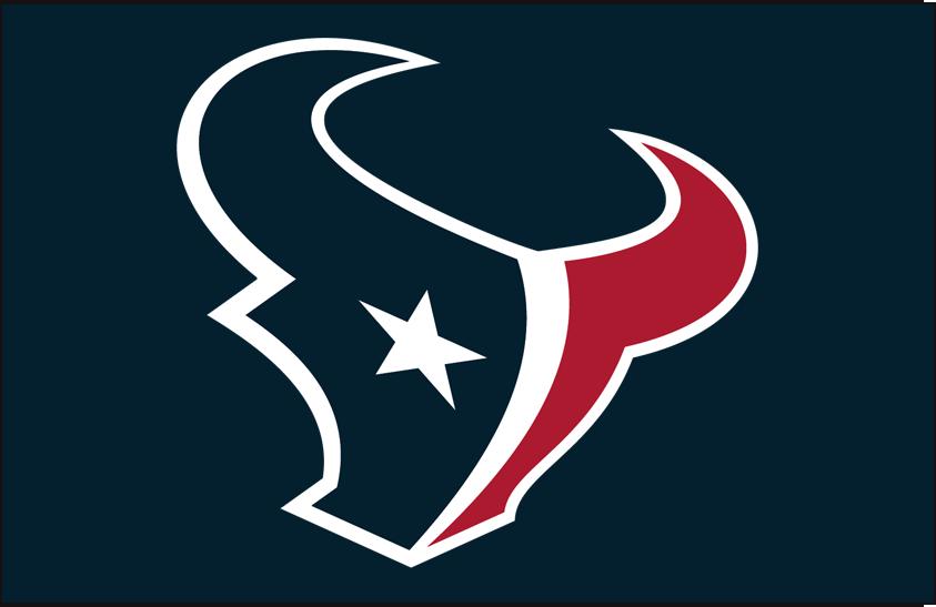 Houston Texans Logo Primary Dark Logo (2002-Pres) - Houston Texans primary logo on blue SportsLogos.Net