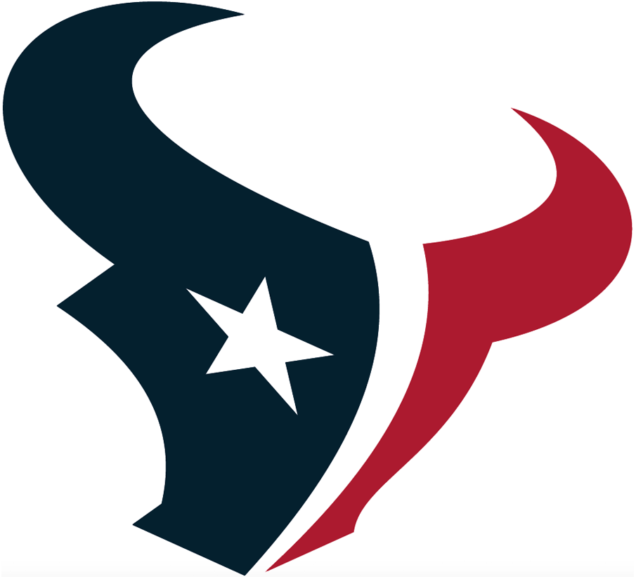 Houston Texans Logo Primary Logo (2002-Pres) - A midnight blue and red bull with a white star as an eye SportsLogos.Net