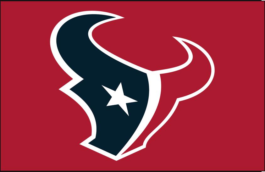 Houston Texans Logo Primary Dark Logo (2002-Pres) - Houston Texans primary logo on red SportsLogos.Net