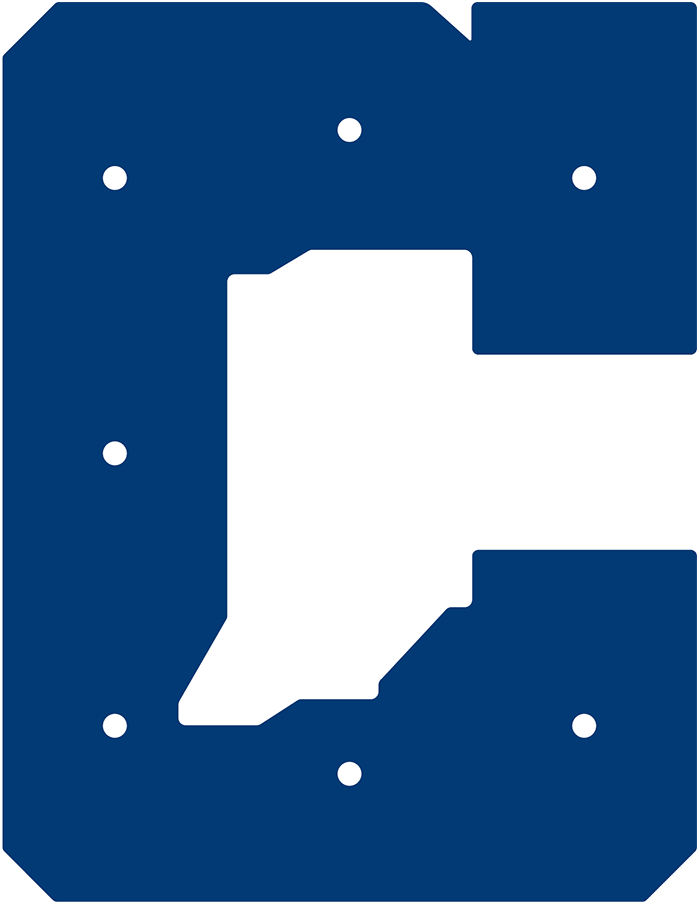 Indianapolis Colts Logo Alternate Logo (2020-Pres) - The letter C in blue with a map of the State of Indiana inside in white  SportsLogos.Net