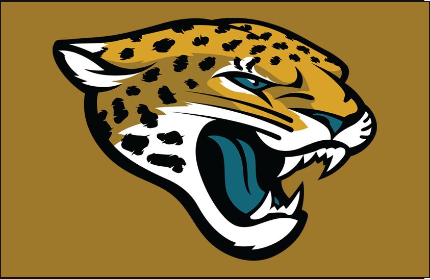 Jacksonville Jaguars Logo Primary Dark Logo (2013-Pres) - Jacksonville Jaguars Primary Logo on Gold SportsLogos.Net