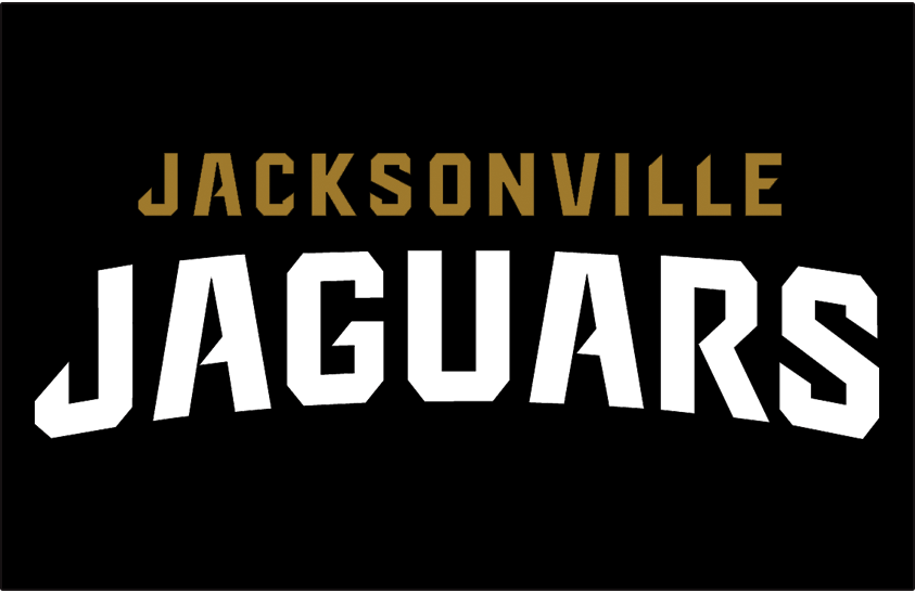Jacksonville Jaguars Logo Wordmark Logo (2013-Pres) - Jacksonville Jaguars Wordmark Logo on Black SportsLogos.Net